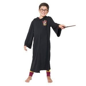 Unisex Harry Potter Black Gryffindor Robe kids
